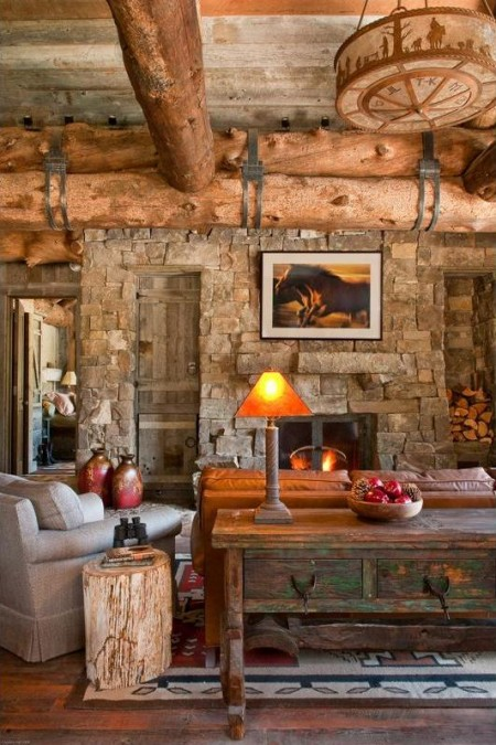 Poze Living - Amenajare living in stil rustic