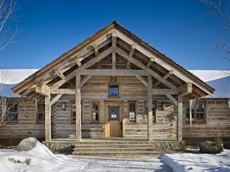 Poze Case lemn - Casa de lemn autentica, din grinzi masive de lemn