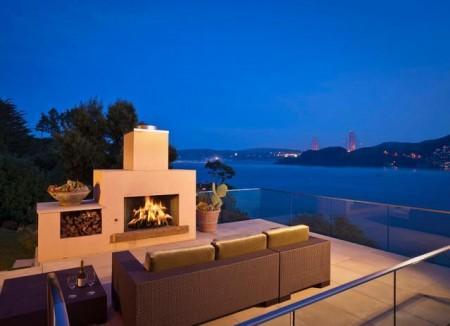Poze Seminee, gratare gradina - Imagine amenajare semineu exterior Hillside Residence, Sutton Suzuki Architects