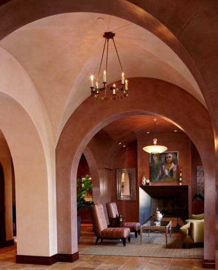 Poze Intrare si hol - Arhitectura mediteraneana cu arcuri si bolti