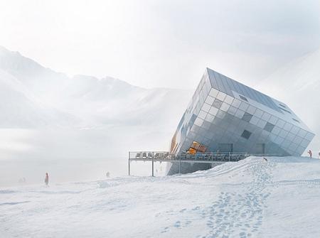 Poze Fatade - Hotel sub forma de cub urias, asezat oarecum 'intr-o rana'