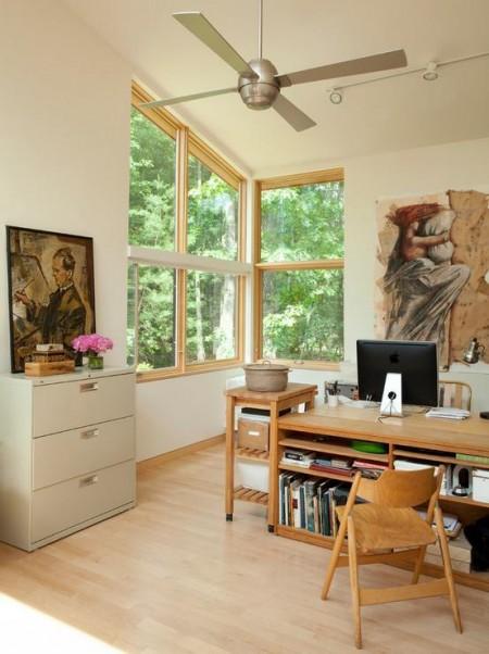 Poze Birou si biblioteca - Lumina naturala in biroul de acasa