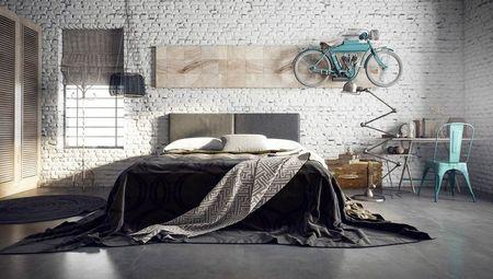 Poze Dormitor - Inspiratie pentru amenajarea unui dormitor industrial minimalist
