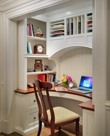Poze Birou si biblioteca - O debara poate fi transformata intr-un superb birou pentru acasa