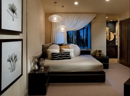 Poze Dormitor - Dormitor modern pe coltul camerei