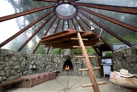 Poze Living - Interiorul unei case solare semi-ingropata