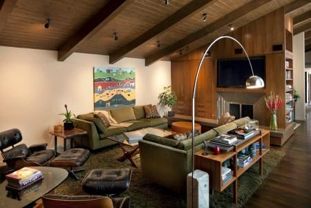 Poze Living - Culori si texturi naturale in livingul modern