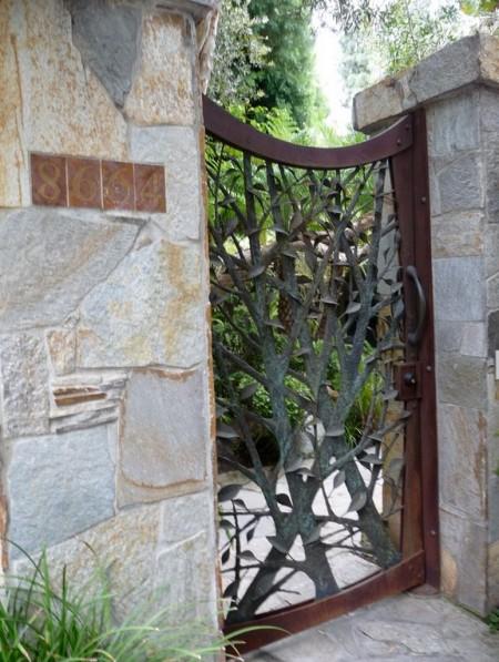 Poze Garduri si porti - Poarta artistica din fier forjat
