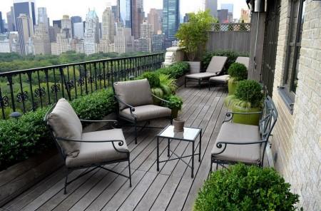 Poze Terasa - Gradina clasica amenajata pe balcon