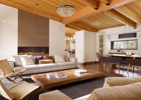 Poze Living - Amanajare moderna casa de vacanta din lemn