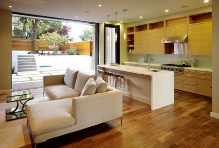 Poze Living - Amenajare moderna living si bucatarie