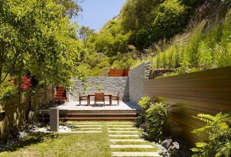 Poze Gradina de flori - Gradina si terasa moderna