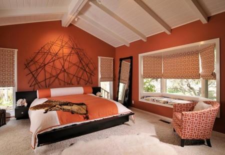 Poze Dormitor - Dormitor matrimonial modern la mansarda