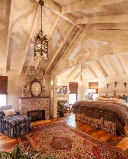 Poze Dormitor - Dormitor cu tenta rustica