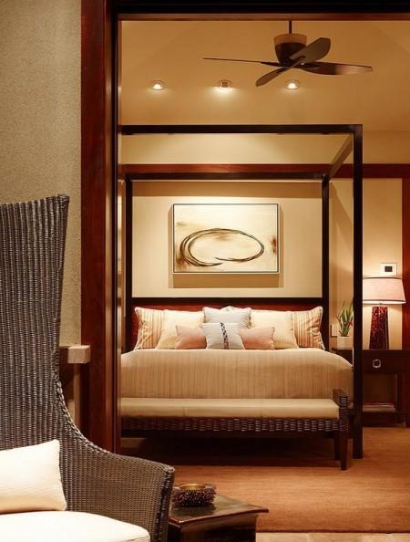 Poze Dormitor - Dormitor cu un baldachin modern