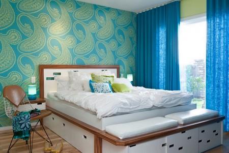 Poze Dormitor - Dormitor modern in culori vii