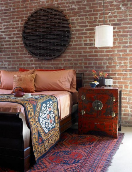 Poze Dormitor - Caramida aparenta in amenajarile interioare