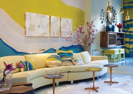 Poze Living - Living modern, plin de culoare