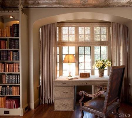 Poze Birou si biblioteca - Birou amenajat in stil clasic