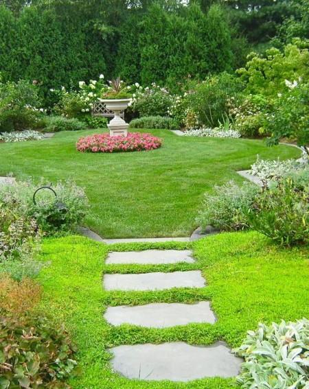 Poze Gradina de flori - Carare din lespezi de piatra