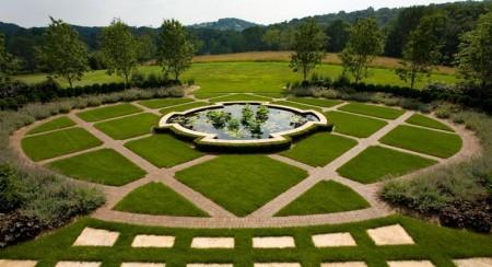 Poze Gradina de flori - Amenajare exterioara geometrica