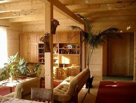 Poze Living - Zona de zi a unei case din lemn