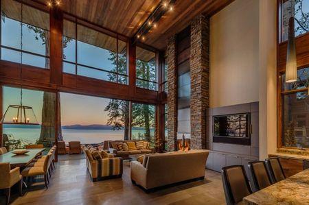 Poze Living - Living modern cu o priveliste fantastica asupra lacului