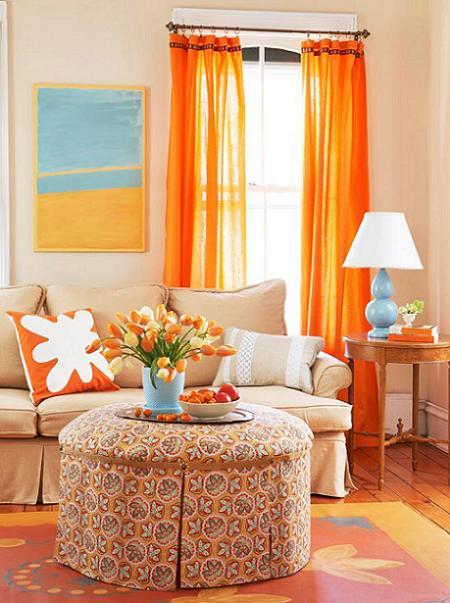 Poze Living - Culori luminoase in living