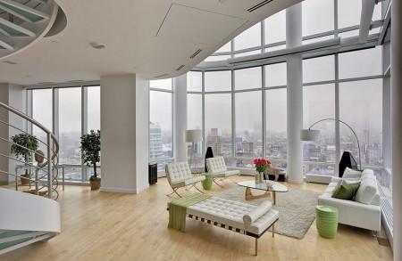 Poze Living - Living modern intr-un penthouse de lux din Manhattan