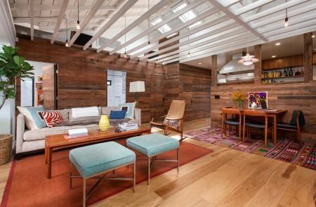 Poze Living - Accente industriale si rustice in interiorul modern