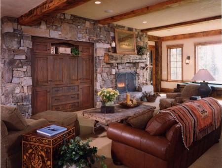 Poze Living - Decor rustic, perfect pentru o casa de vacanta la munte