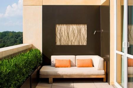 Poze Balcon - Loc de relaxare in balcon amenajat modern