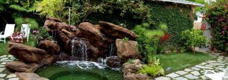 Poze Cascada si iaz - Amenajare iaz de gradina cu piatra naturala