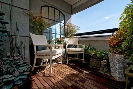 Poze Balcon - Mini-gradina pe balcon