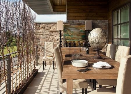 Poze Terasa - Sufragerie moderna de pe balcon