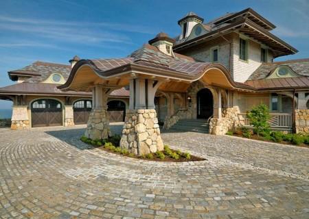 Poze Fatade - Arhitectura spectaculoasa casa din lemn