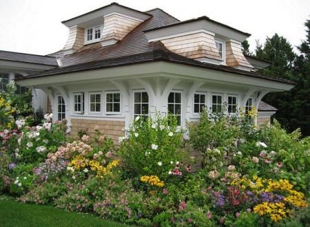 Poze Gradina de flori - Gradina cu flori multicolore