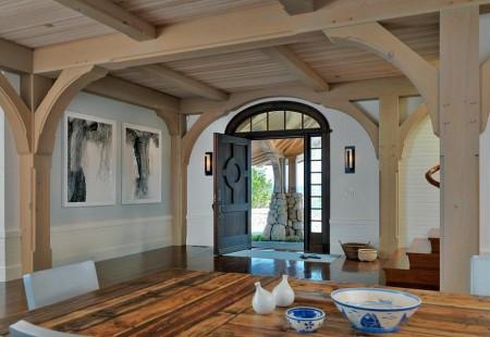 Poze Intrare si hol - Intrare casa din lemn