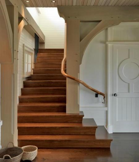 Poze Scari - Scara interioara din lemn