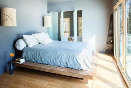 Poze Dormitor - Mobilier minimalist din lemn masiv