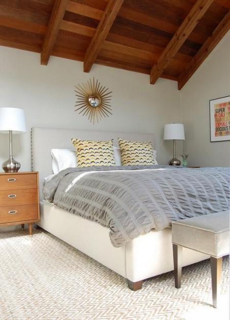Poze Dormitor - Amenajare dormitor modern la mansarda