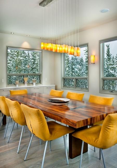 Poze Sufragerie - Dining minimalist cu o cromatica calda