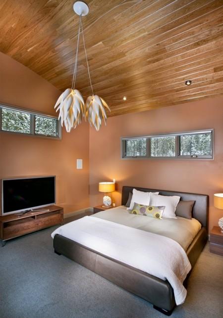 Poze Dormitor - Dormitor modern cu finisaje naturale