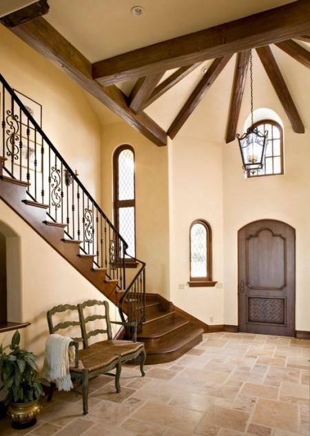 Poze Scari - Scara interioara placata cu lemn