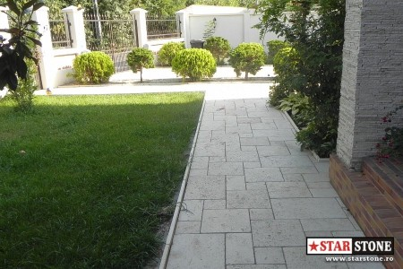 Poze Alei - Montaj pavele dale beton travertin