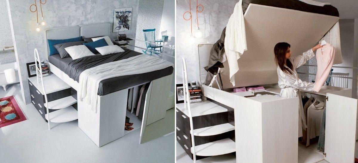 Poze Dormitor - Pat si dressing 2 in 1, solutia pentru spatii mici