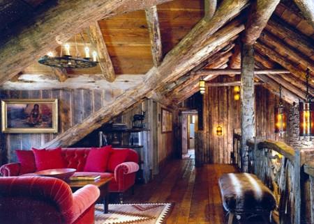 Poze Case lemn - Interior casa de vacanta din lemn masiv