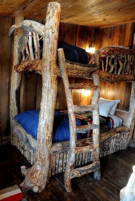 Poze Case lemn - Paturi etajate rustice