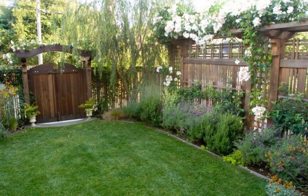 Poze Gradina de flori - Gardul pergola