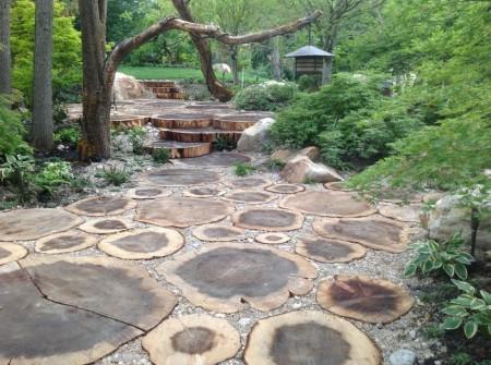 Poze Alei - Alee din trunchiuri de copaci
